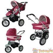 Шикарная коляска 2 в 1 трехколесная для вашей дочки!!!